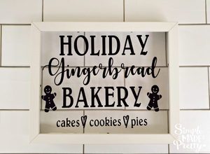 Holiday Gingerbread Bakery Sign SVG File (SVG, DXF, EPS, & Png) - Cut File -Cricut, Silhouette