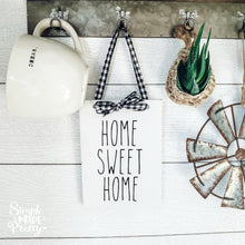 Load image into Gallery viewer, Wooden Hanging Sign - Home Sweet Home, Grateful, Thankful Blessed Farmhouse Sign