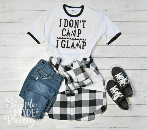 I don't camp I glamp SVG | Cricut cut file | camping tee shirt | silhouette cut file | svg files | camping svg | glamping svg | glamping t-shirt | glamping tee