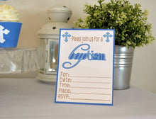 Load image into Gallery viewer, Baptism Party Celebration Printable Package in Blue - PDF