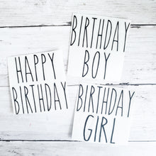 Load image into Gallery viewer, Birthday Decal - Rae Dunn (DECAL only shipped)