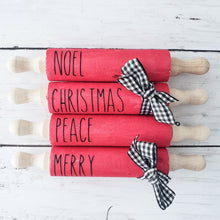 Load image into Gallery viewer, Decals for Mini Rolling Pins Christmas (DECAL only shipped) - Christmas Rolling Pin Decals