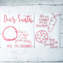 Load image into Gallery viewer, Dear Santa Christmas Tray - Cookies for Santa Tray, Christmas Decal - (Decal only shipped)
