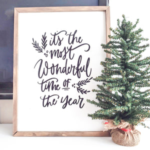 It's The Most Wonderful Time of the Year Farmhouse Sign - Seasonal Farmhouse Decor - LIMITED TIME