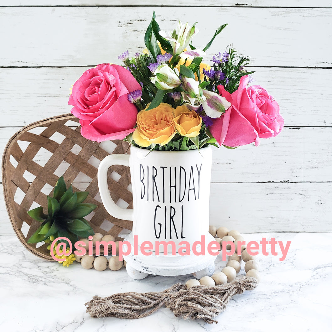 Birthday Decal - Rae Dunn (DECAL only shipped)