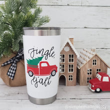 Load image into Gallery viewer, Red Truck with Tree Mug Decal for Christmas (DECAL only Shipped)