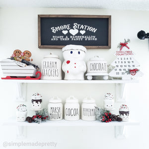 S'mores & Hot Cocoa Station Rae Dunn Decals Bundle - Rae Dunn Mugs Inspired (6 Decals only shipped)