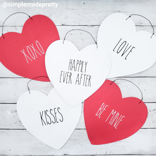 Valentine's Sign Decals - Rae Dunn Mug Decals (DECALS only shipped)