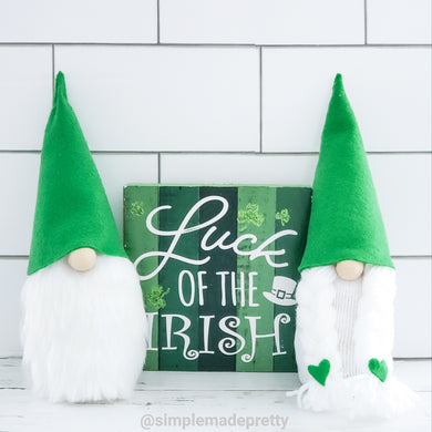 St. Patrick's Day Gnomes, Easter Gnomes, Spring Gnomes - Boy Gnome or Girl Gnome