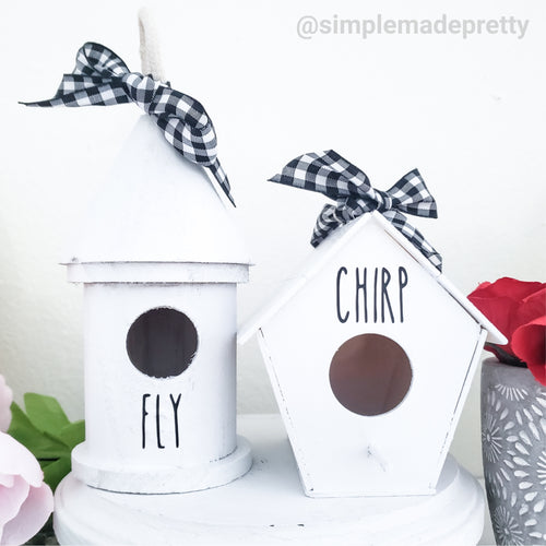 Bird House Decals - Rae Dunn Mug Decals (DECALS only shipped)