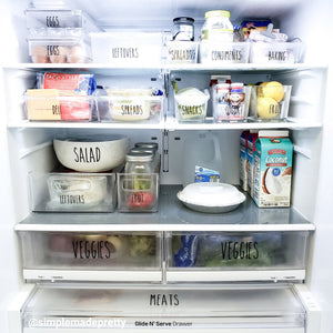 Fridge Organization Decals LARGE - Rae Dunn Inspired (DECALS only shipped)