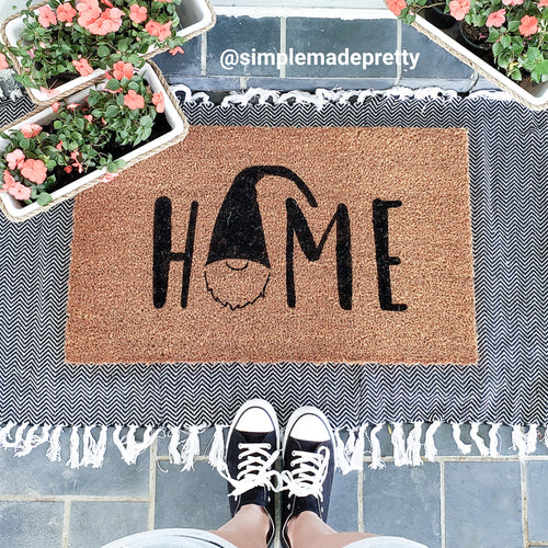 HOME (with Gnome Image) - SVG, EPS, DXF, PNG Files