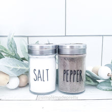 Load image into Gallery viewer, Salt and Pepper Decal Bundle - (2 Decals shipped) - Salt Label, Pepper Label, Rae Dunn Salt and Pepper
