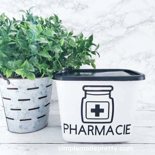 First Aid Decal, Pharmacie Decal - (Decal only shipped)