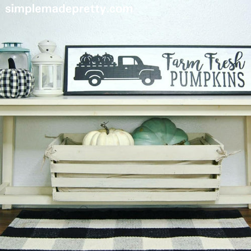 Truck with Pumpkins - Antique Truck Fall Decal (Decal only shipped)