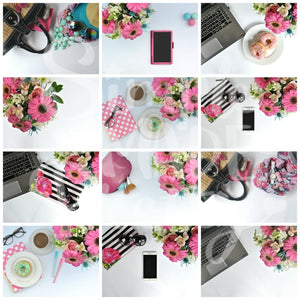 Pink & Black Styled Stock Photos {12 Photos}