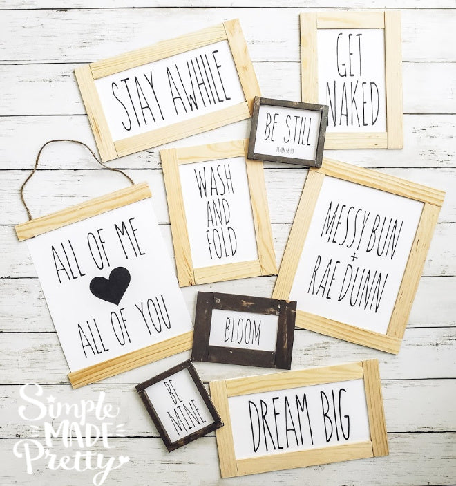 **Rae Dunn Inspired** Farmhouse Signs (70+ Total Wall Signs!) - PDF
