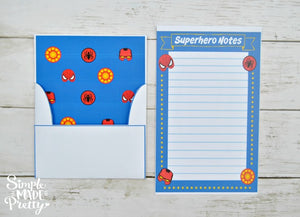 Superhero Inspired Stationery Set - Printable PDF