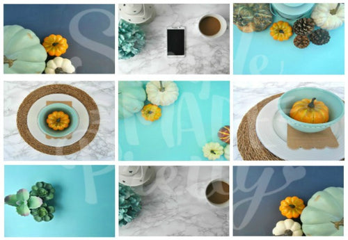 Teal & Blue Fall Styled Stock Photos {9 Photos}