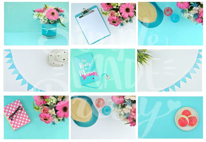 Teal Styled Stock Photos {9 Photos}