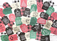 Load image into Gallery viewer, The BIG Bundle of Printable Christmas Gift Tags with 150+ Printable Holiday Gift Tags