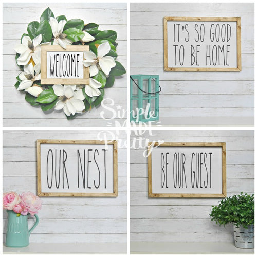**NEW** The BIG Bundle of **Rae Dunn Inspired** Farmhouse Signs (70+ Total Wall Signs!) - PDF