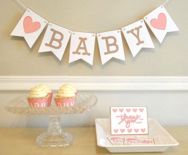 Baby Shower Party Package in Pink - PDF