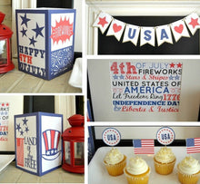 Load image into Gallery viewer, July 4th Independence Day Printables - PDF
