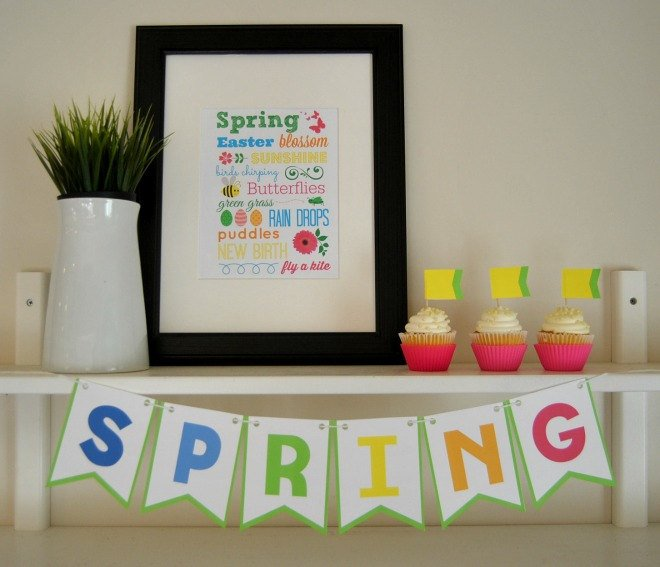 Spring Printable Bunting & Subway Art - PDF