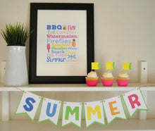 Load image into Gallery viewer, Summer Printable Bunting & Subway Art - PDF