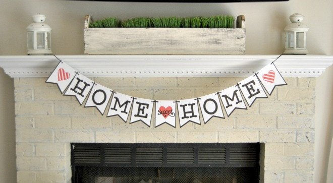 Home Sweet Home Housewarming Party Banner - PDF