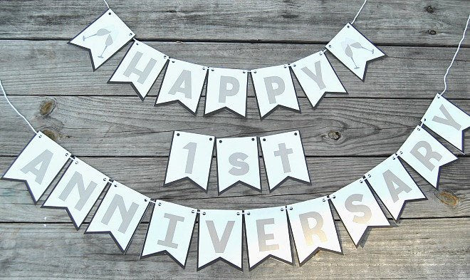 happy anniversary banner pdf simple made pretty