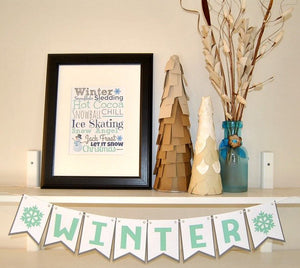 Winter Home Decor Printables - PDF