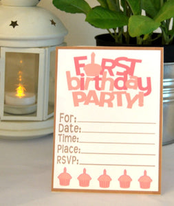 Baby's First Birthday Party Package in Pink - PDF