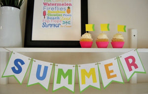 Summer Printable Bunting & Subway Art - PDF