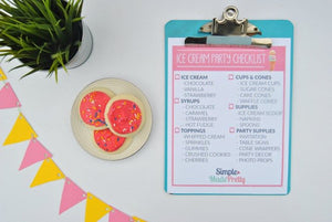 Ice Cream Party Printable Package - PDF