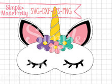 Load image into Gallery viewer, Unicorn Sleep Mask SVG, DXF, EPS, & Png - Cut File -Cricut, Silhouette