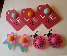 Load image into Gallery viewer, EOS Lip Balm Cards - Ladybug, Flower Card, Over-sized Love Tag - PDF
