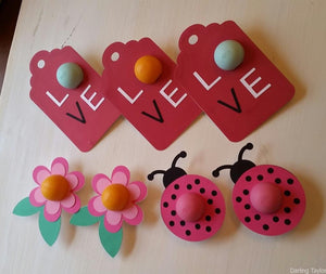 EOS Lip Balm Cards - Ladybug, Flower Card, Over-sized Love Tag - PDF