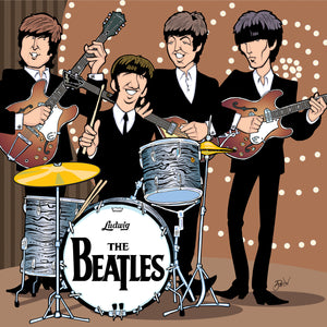 Beatles Top of The Pops Performance by Anthony Parisi, Limited Edition Print, available on paper, canvas and acrylic.