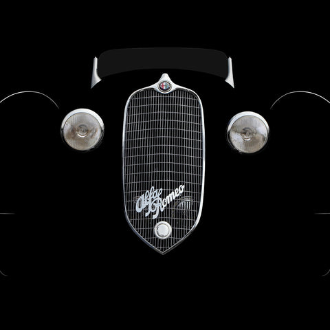 1938 Alfa Romeo Face by Breck Rothage, Limited Edition Print