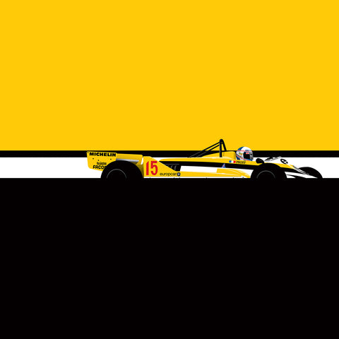 Alain Prost Renault, by Ricardo Santos, Limited Edition Print