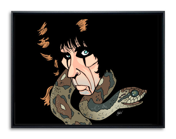 Alice Cooper Snake by Anthony Parisi, Limited Edition Print