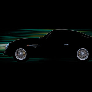 Aston Martin DB4 GTZ by Breck Rothage, Limited Edition Print