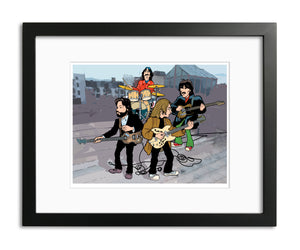 Beatles Rooftop Performance by Anthony Parisi, Limited Edition Print