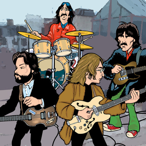 Beatles Rooftop Performance, Limited Edition Print
