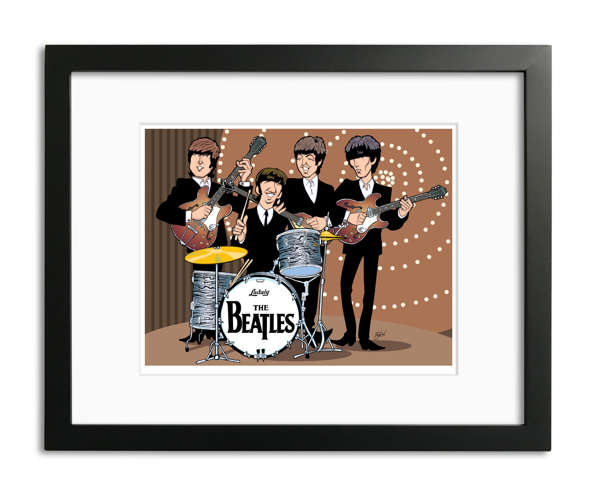 Beatles Top of The Pops Performance by Anthony Parisi, Limited Edition Print