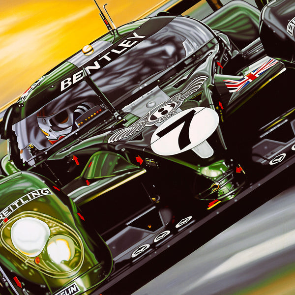 Mr Le Mans and the Bentley Boys, Limited Edition Canvas Print