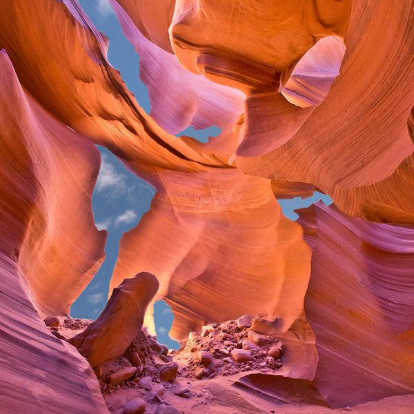 Blue Sky Slot Canyon, Page, Arizona, by Robert Ross