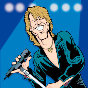 Bon Jovi by Anthony Parisi, Limited Edition Print